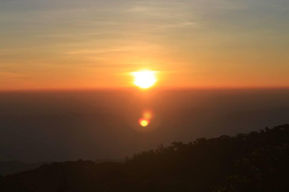 ดอยม่อนจอง-พระอาทิตย์ตก