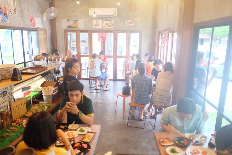 ดิบดี Sushi Cafe-บรรยากาศในร้าน