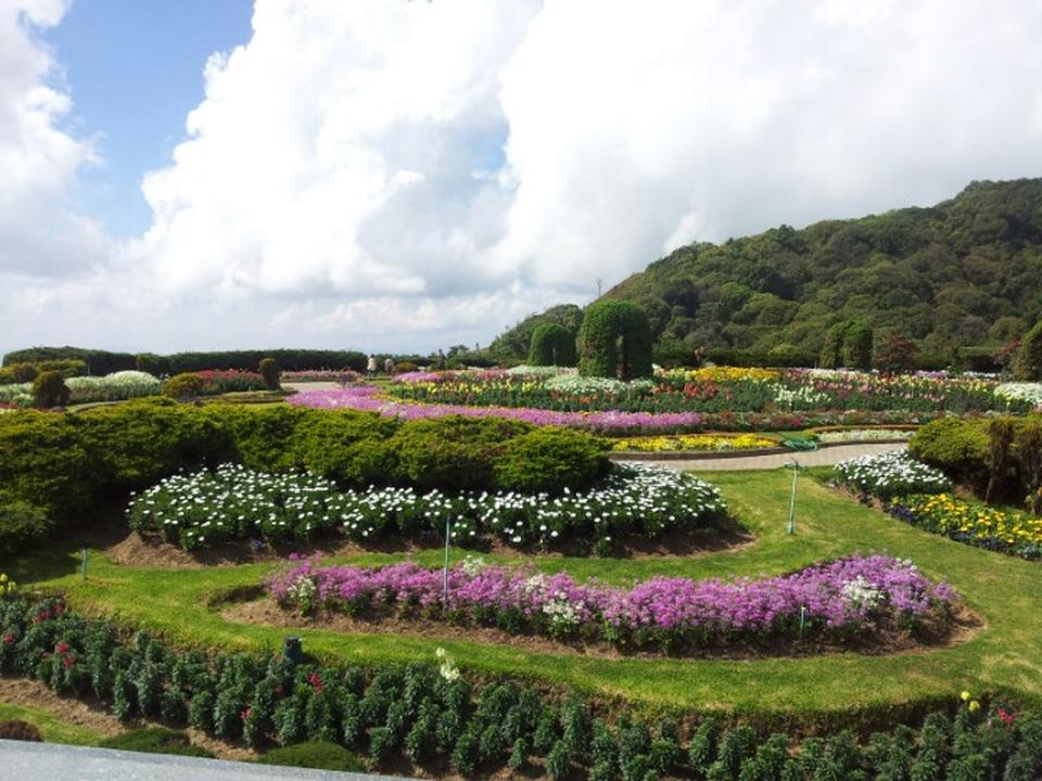 พระมหาธาตุนภพลภูมิสิริ-สวนดอกไม้