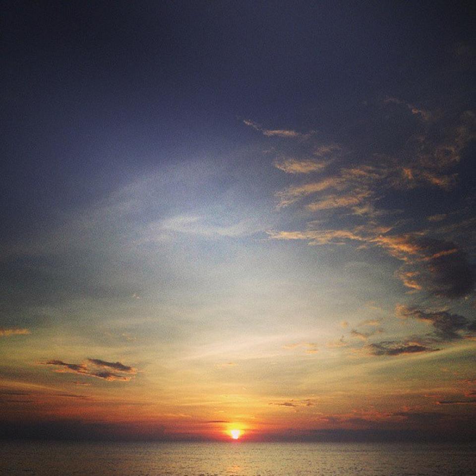 หาดไม้ขาว-พระอาทิตย์ตก
