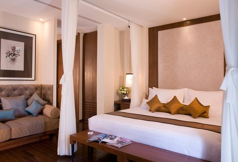 โรงแรม วี วิลล่าส์ หัวหิน-ห้องพัก-เตียงนอน