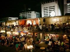 ตลาดนัดรถไฟ รัชดา-บรรยากาศร้านอาหาร