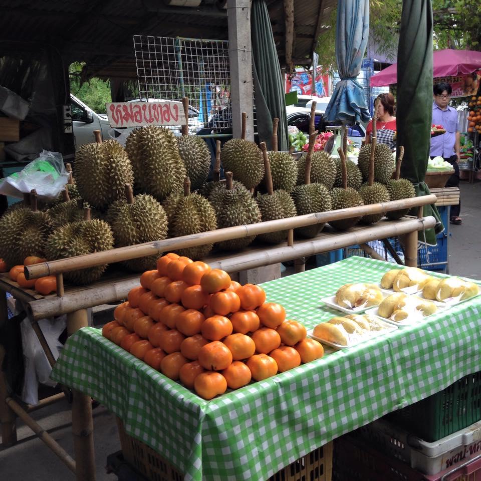 ตลาดน้ำคลองลัดมะยม-ผลไม้