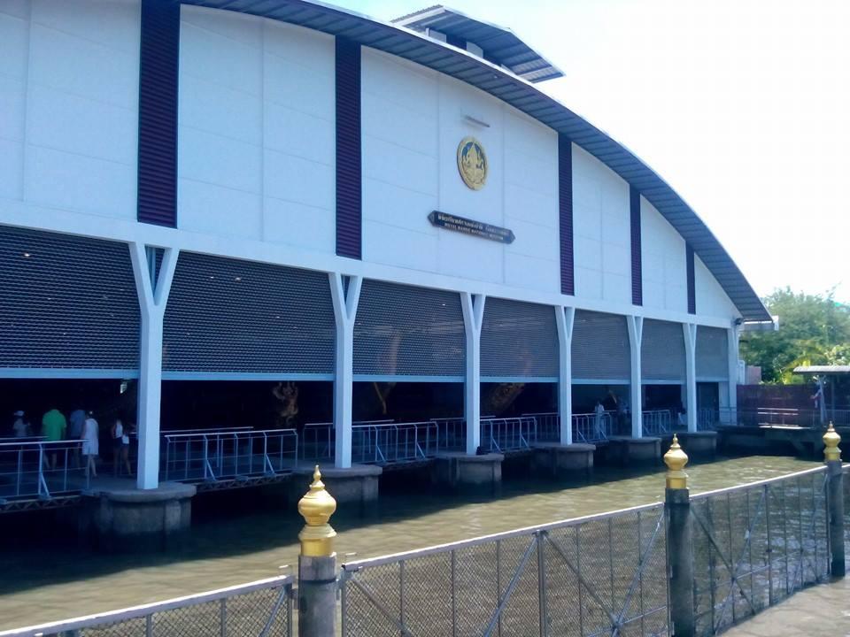 พิพิธภัณฑสถานแห่งชาติเรือพระราชพิธี-ด้านหน้า