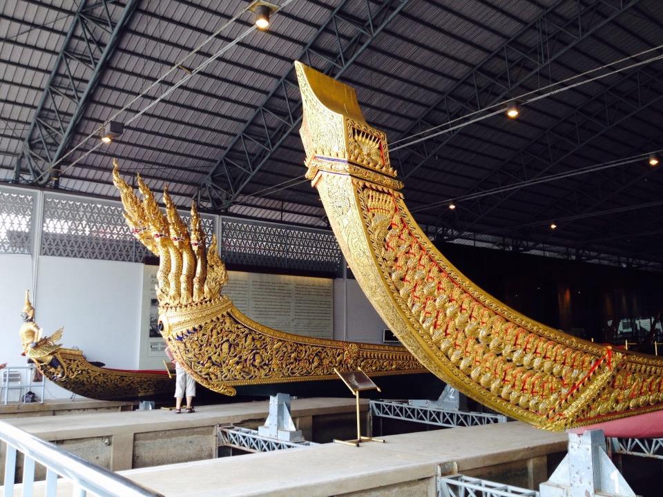 พิพิธภัณฑสถานแห่งชาติเรือพระราชพิธี-บรรยากาศในโรงเก็บเรือ