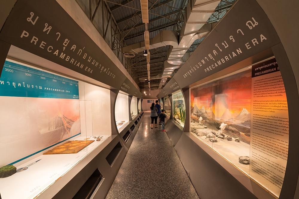 พิพิธภัณฑ์ธรรมชาติวิทยา (อพวช.)-จัดเเสดง