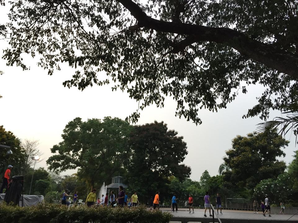 สวนสราญรมย์-ออกกำลังกาย