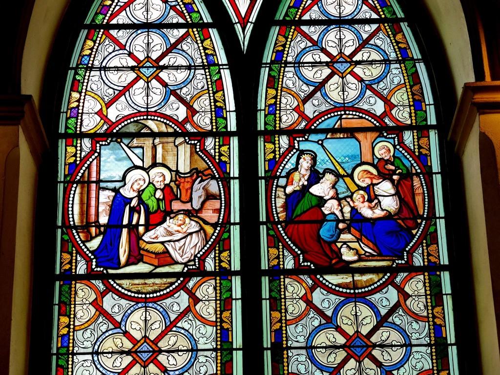 โบสถ์กาลหว่าร์-ภายใน-กระจก