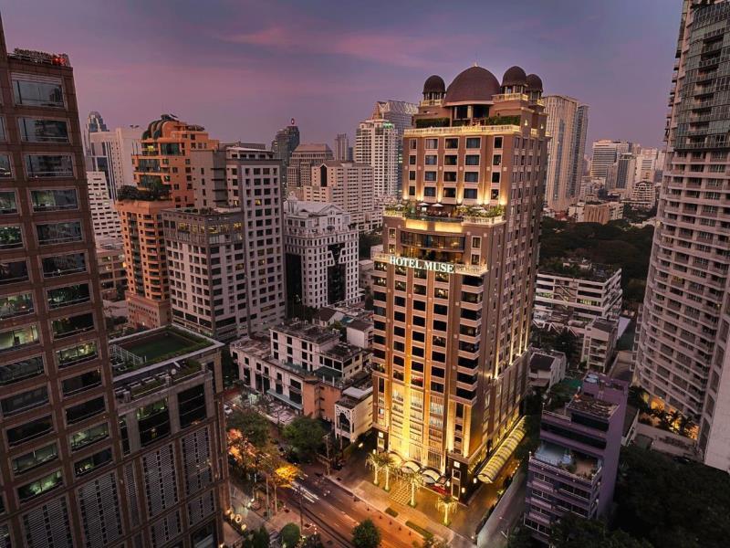 โรงแรมมิวส์ กรุงเทพ-ตัวอาคาร