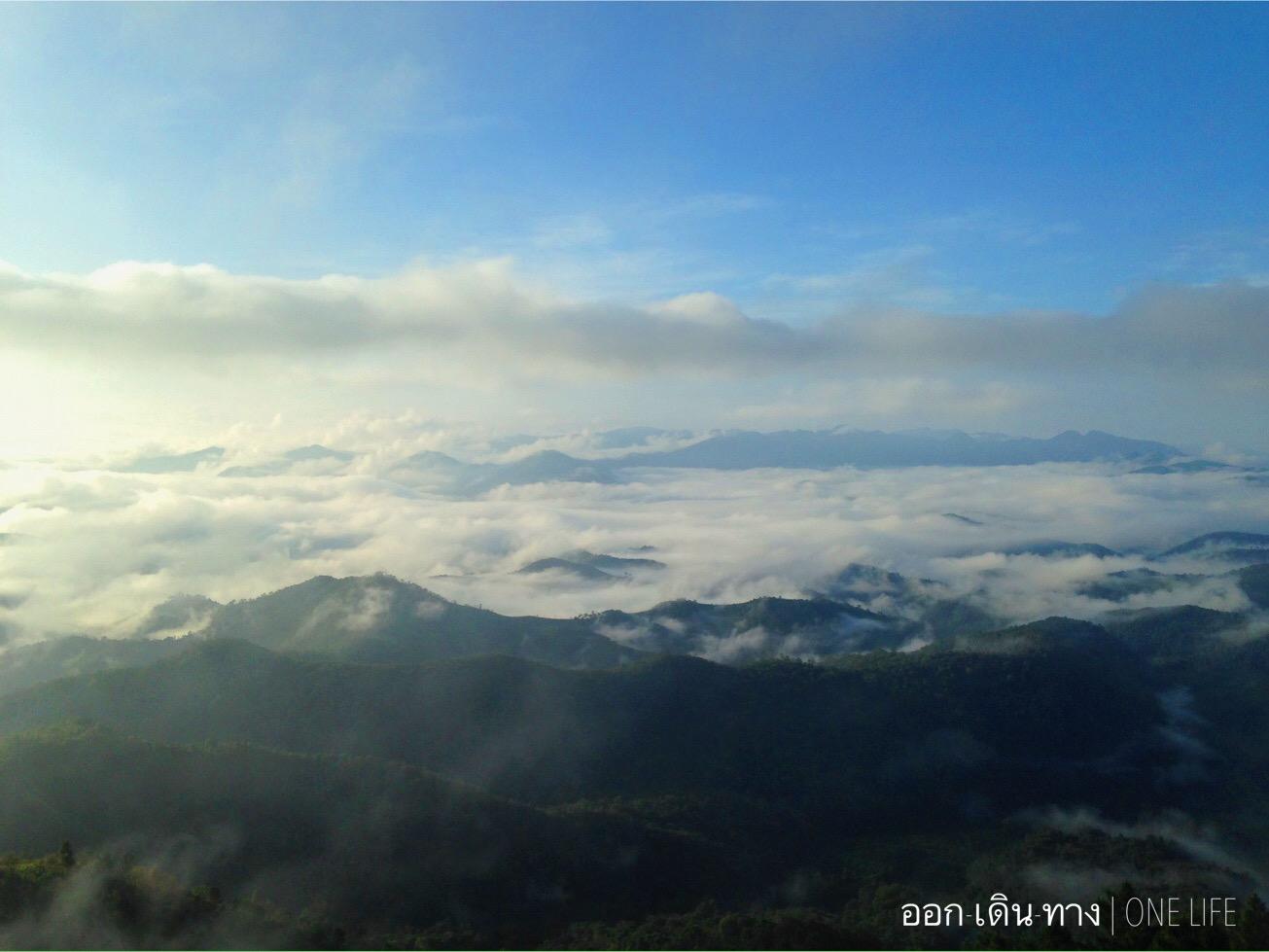 ภูชี้เพ้อ ในวันหลังฝนตกเมื่อวาน วันนี้ฟ้าครื้ม เมฆค่อนข้างเยอะ หมอกฟุ้งกระจายตัว