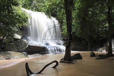 10 สถานที่ท่องเที่ยวยอดนิยมในจังหวัดศรีสะเกษ-น้ำตกสำโรงเกียรติ